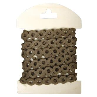 Rayher: Brun - Filt bånd med sirkler, 1.1 cm x 180cm