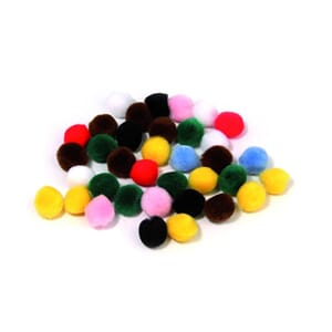 Pompons Mix - 15 mm, 60 stk