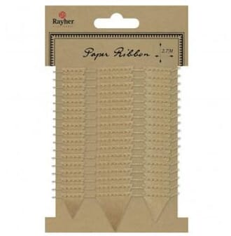 Rayher: Kraft - Paper cord with pennant