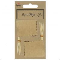 Rayher: Kraft - Flag picker with deco border 10/Pkg