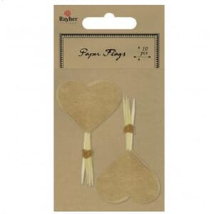 Rayher: Kraft - Picker Heart 10/Pkg