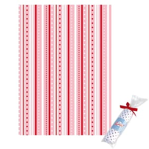 Tante Ema: Play of stripes, Pale-pink - stoffbit 50x65cm