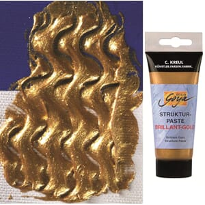 SOLO GOYA Strukturpaste - Brilliant gold, 100ml