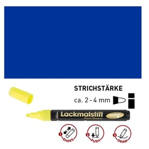 HOBBY LINE Lakk tusj - Blue, medium 2-4 mm