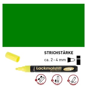 HOBBY LINE Lakk tusj - Green, medium 2-4 mm