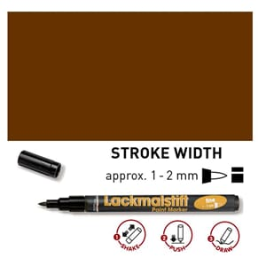 HOBBY LINE Lakk tusj - Brown, fine 1-2 mm