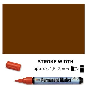 Permanent Marker Medium - Dark Brown, 1.5-3 mm