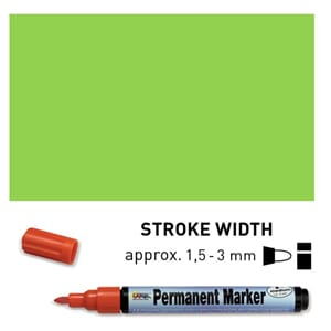 Permanent Marker Medium - Light Green, 1.5-3 mm
