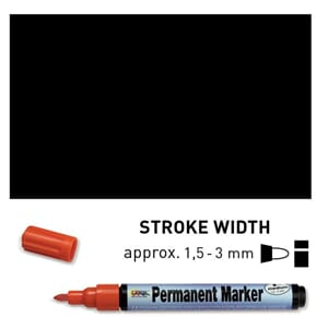 Permanent Marker Medium - Schwarz, 1.5-3 mm