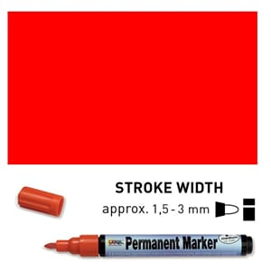 Permanent Marker Medium - Red, 1.5-3 mm