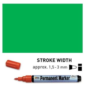 Permanent Marker Medium - Green, 1.5-3 mm