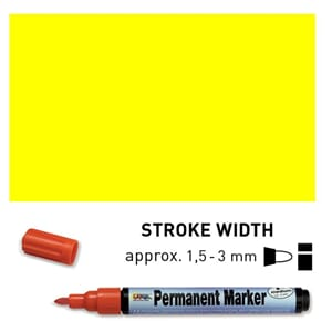 Permanent Marker Medium - Yellow, 1.5-3 mm