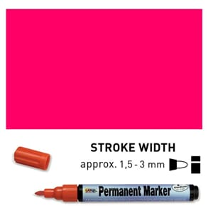 Permanent Marker Medium - Pink, 1.5-3 mm