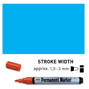 Permanent Marker Medium - Light Blue, 1.5-3 mm