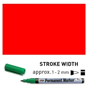Permanent Marker Fine - Red, 1-2 mm