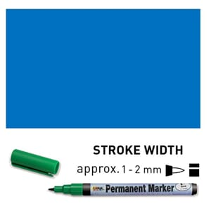 Permanent Marker Fine - Blue, 1-2 mm