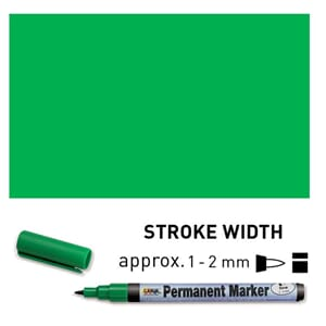 Permanent Marker Fine - Green, 1-2 mm