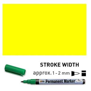 Permanent Marker Fine - Yellow, 1-2 mm