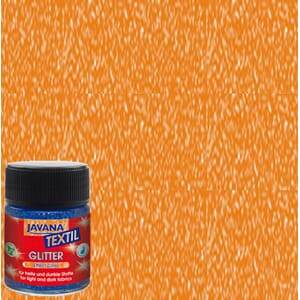 JAVANA Tekstil Glitter - 50ml Orange