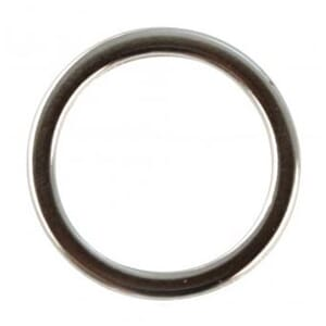 Metall ring for smykkelaging, flat 15 mm, 4/Pkg