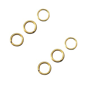 Ring - Gullfarget metall, 9 mm - 15 stk