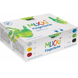 MUCKI Finger Paint 150 ml Set of 6