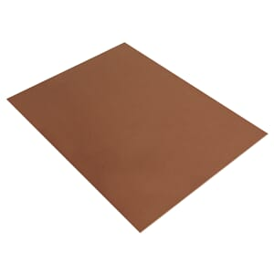 Mosegummi 2mm - Medium Brown 20x30cm
