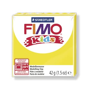 Fimo kids, yellow, 42 g