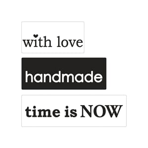 Stamps - ...love, handmade, time..., 3/Pkg