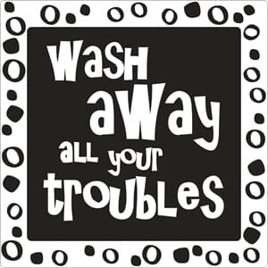 Stamps - Wash away all your troubles, 1/Pkg