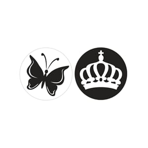 Stamps - Butterfly & Crown, 2/Pkg