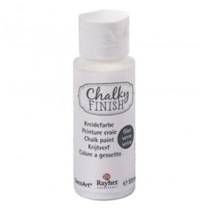 Chalky Finish for Glass - white