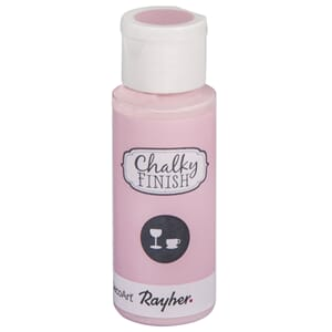 Chalky Finish for Glass - pale pink