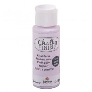 Chalky Finish for Glass - powder pink