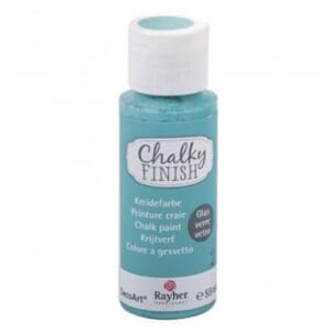 Chalky Finish for Glass - indian turquoise