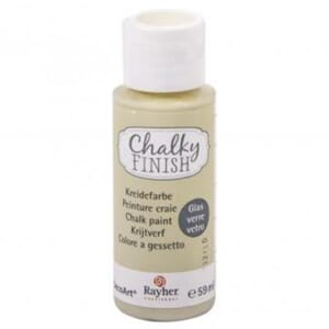 Chalky Finish for Glass - beige