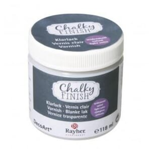 Chalky Finish clear varnish satin finish