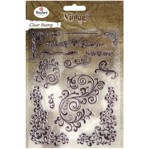 Vintage: Swirls - Clear Stamps