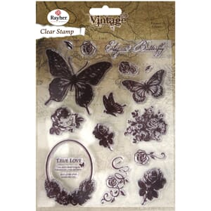 Vintage: Butterfly - Clear Stamps