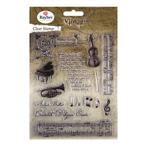 Vintage: Music - Clear Stamps