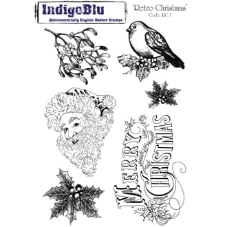 IndigoBlu: Retro Christmas, str 200x140mm, 6/Pkg