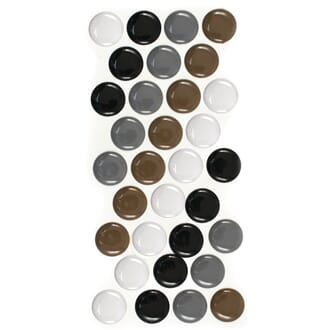 Epoxy dots - Neutral, 32/Pkg