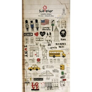 Stickers - New york Diary, 33/Pkg