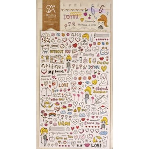 Stickers - Drawing Love, 99/Pkg