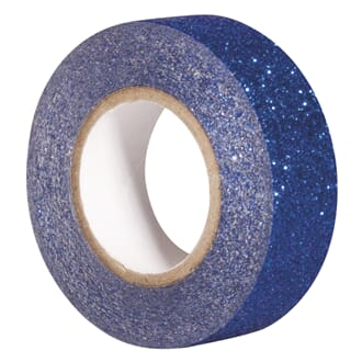 Glittertape - Royal blå, 15mm x 5 m