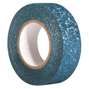 Glittertape - Teal, 15mm x 5 m