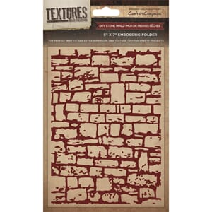 Crafter's Companion: Dry Stone Wall Embossing Folder, 1/Pkg