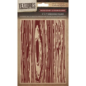 Crafter's Companion: Wood Grain Embossing Folder, 1/Pkg