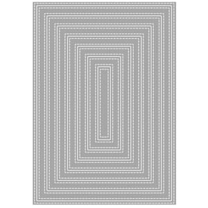 Rayher: Double Stiched Rectangles dies, 11.5x16.3cm, 7/Pkg