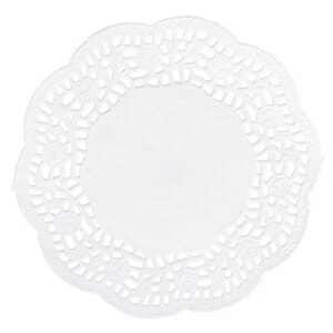 Homemade Goodies: Doilies, white, dia 11 cm